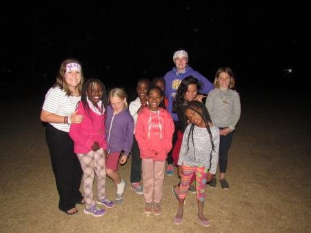 Amy with her sweet Satima girls.