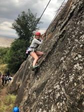 A little rock climbing with Meru girls